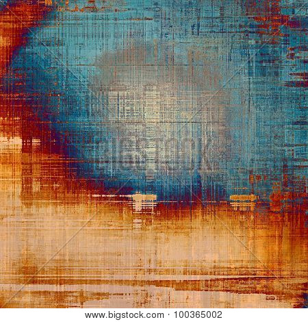Old background with delicate abstract texture. With different color patterns: yellow (beige); brown; blue; red (orange)
