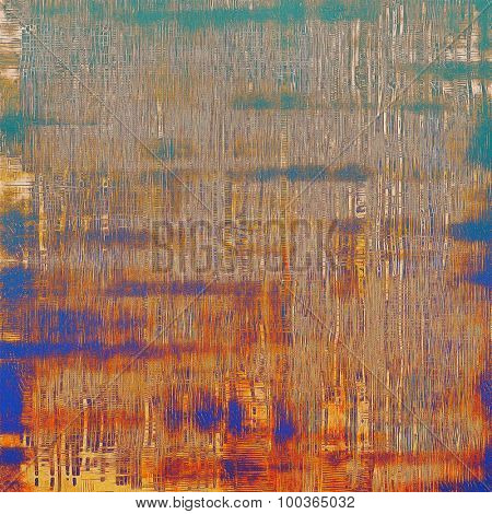 Designed grunge texture or background. With different color patterns: yellow (beige); brown; blue; green