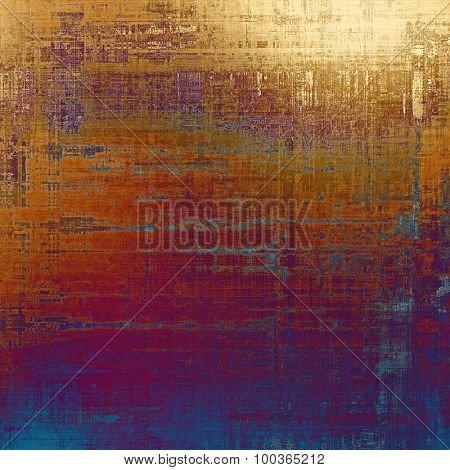 Old-style background, aging texture. With different color patterns: yellow (beige); brown; red (orange); purple (violet)