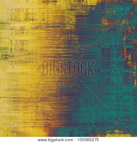 Dirty and weathered old textured background. With different color patterns: yellow (beige); brown; blue; purple (violet)