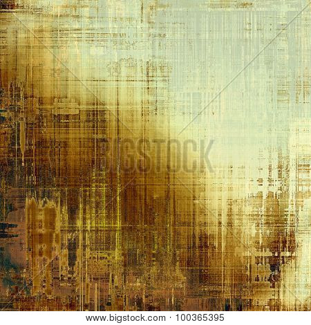 Old, grunge background or ancient texture. With different color patterns: yellow (beige); brown; black; gray