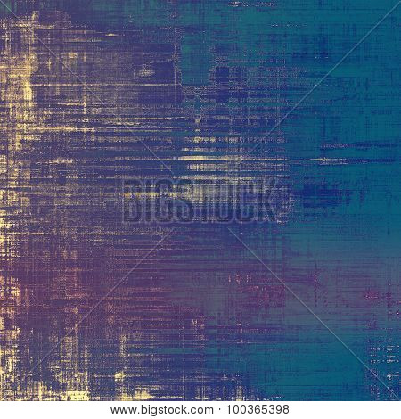 Aging grunge texture, old illustration. With different color patterns: yellow (beige); blue; cyan; purple (violet)