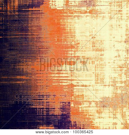 Old abstract texture with grunge stains. With different color patterns: yellow (beige); brown; red (orange); purple (violet)