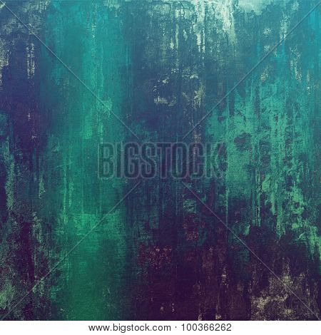 Old texture - ancient background with space for text. With different color patterns: blue; cyan; green; purple (violet)