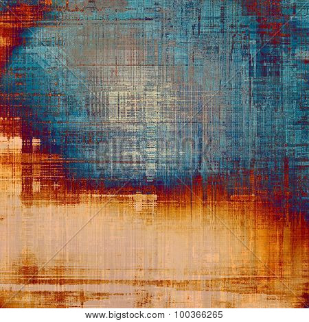 Grunge retro texture, elegant old-style background. With different color patterns: yellow (beige); brown; blue; red (orange)