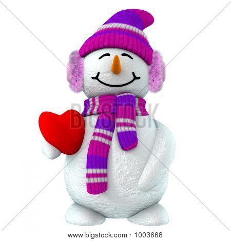 3D Snowman Girl