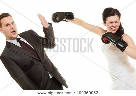 Married Couple Fighting.