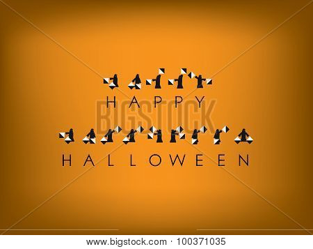 Halloween card design with semaphore code
