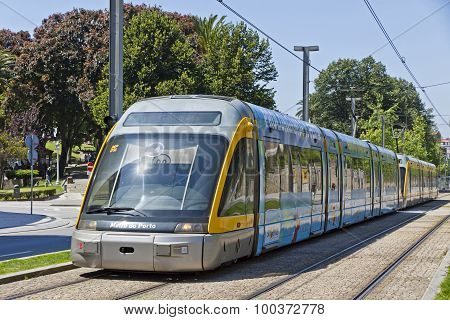 Light Rail Train Of Metro Do Porto, Portugal