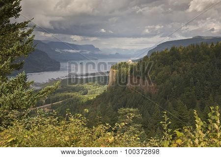Columbia River Gorge After Some Rain Oregon.