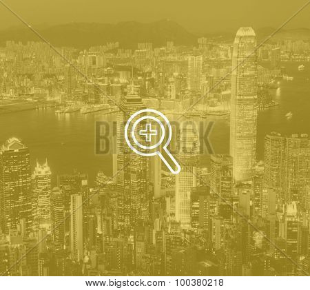 Hong Kong Cityscape Downtown View Concept