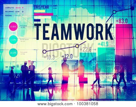 Teamwork Team Collaboration Support Help Business Concept