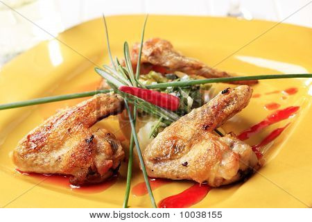Roast Chicken Wings And Potatoes