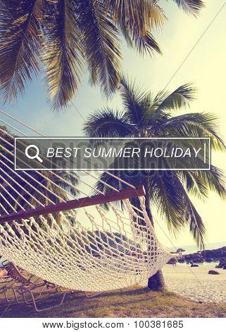 Best Summer Holiday Enjoyment Freedom Concept