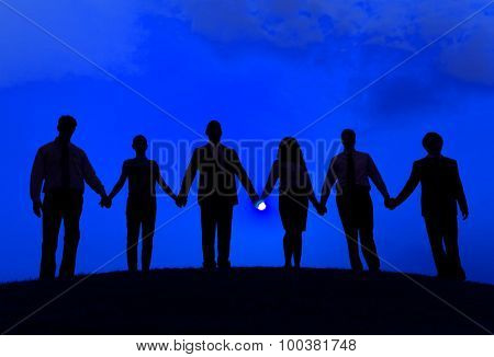 Business People Corporate Connection Togetherness Concept