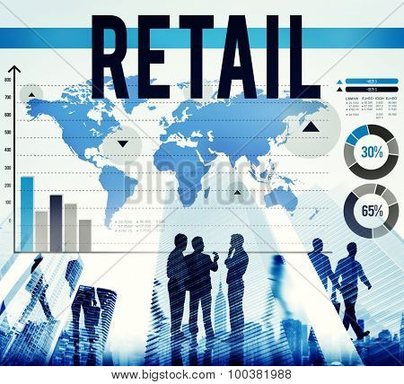 Retail Commerce Consumer Crowd Data Concept