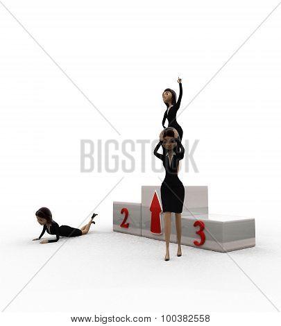 3D Woman Top 3 Concept