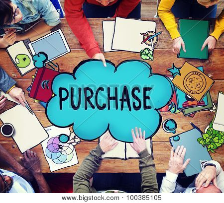 Purchase Retail Commerce Marketing Concept