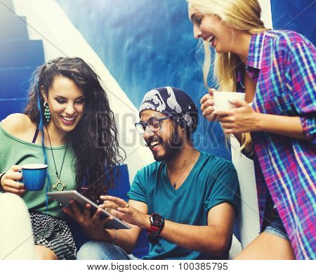 Diverse Friends People Group Hanging Out Concept
