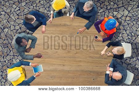 Business People Meeting Discussion Architect Engineer Concept