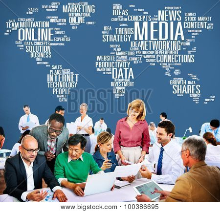 Media Social Media Network Technology Online Concept