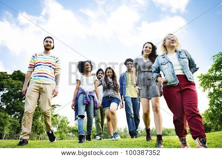 College Park Garden Togetherness Unity Friendship Concept