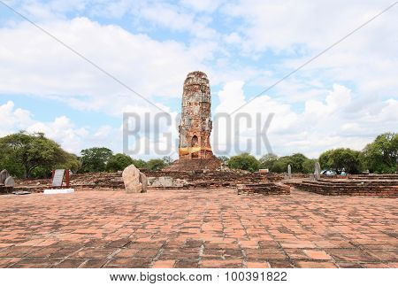 This Temple Was Burnt Down By The War, Wat Lokayasuttaram In The Past