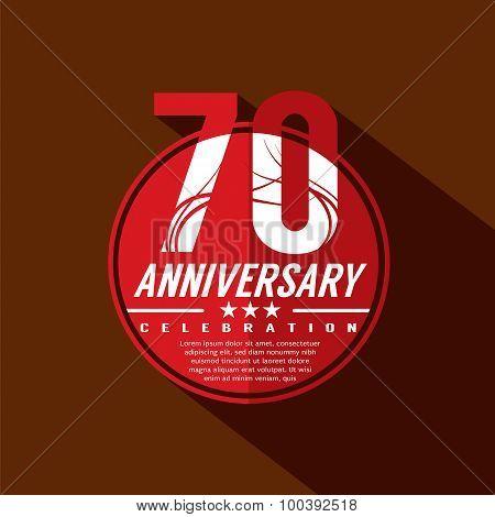 70Th Years Anniversary Celebration Design.