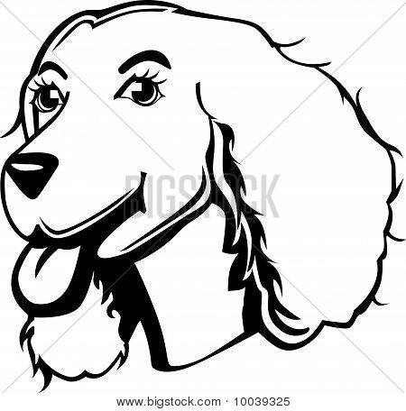Black And White Cocker Spaniel Cartoon