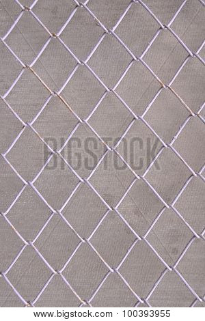 Wire Mesh, Iron Wire Fence Wall Gray Background.