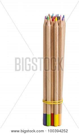 Bundle Of Colored Pencils