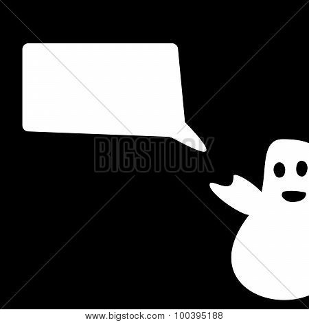 Funny Ghost Halloween congratulation