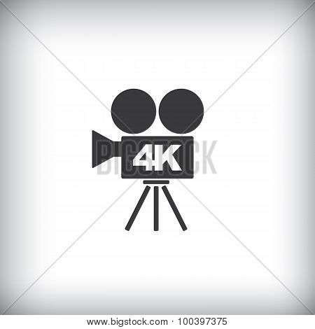 4k ultra hd video recorder icon isolated on background