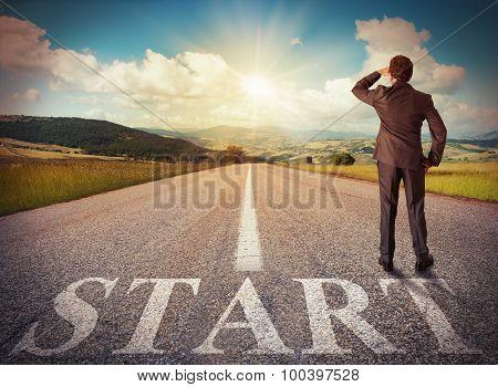 Start of a businessman
