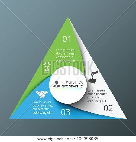 Vector spiral triangle for infographic.