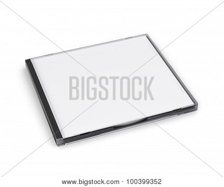 Cd Box Close Isolated On White Background