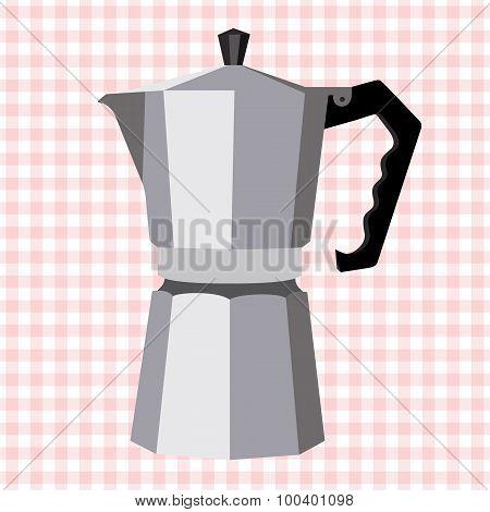 Italian Geyser Vector Coffee Maker