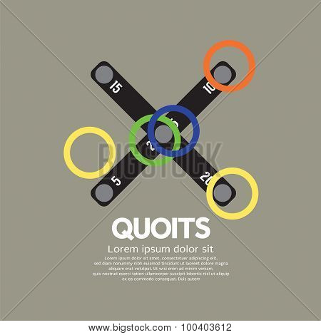 Top View Of Quoits.