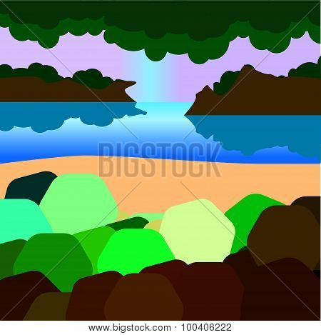 Landscape with simplified details