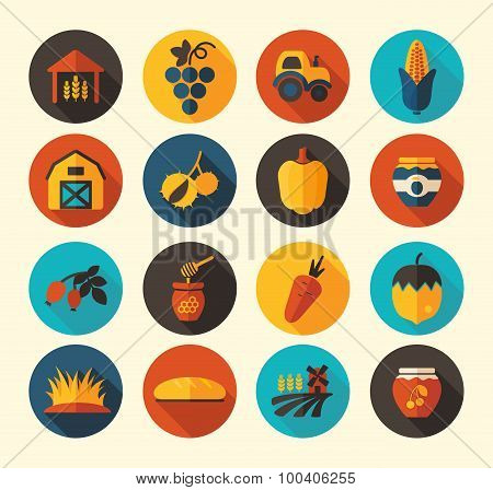 Autumn Harvest Thanksgiving Flat Icon