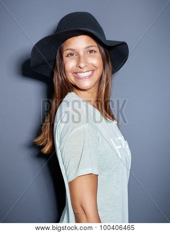 Cute Young Woman With A Big Beaming Smile