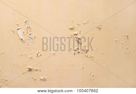 Sandy brown wall bad condition decorative render