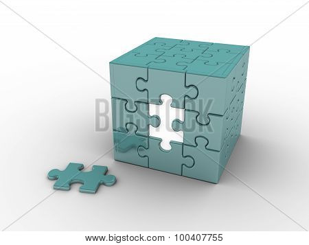 Cube Shaped Puzzle