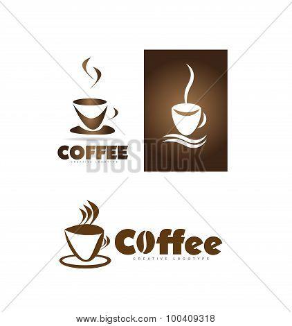 Coffee Cup Shop Logo Icon