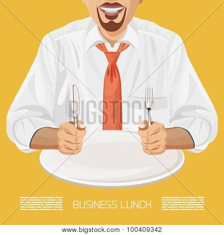Business lunch office worker