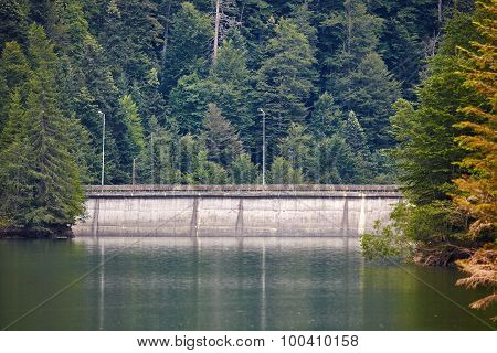 Dam Lake In The Mountains
