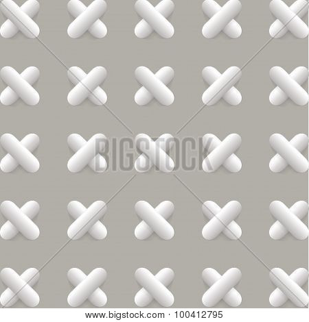 Vector Pattern With 3D Crosses