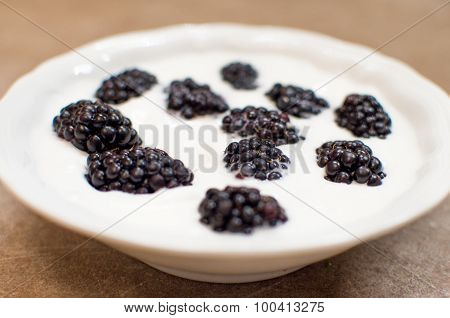 Whole Ripe Blackberries