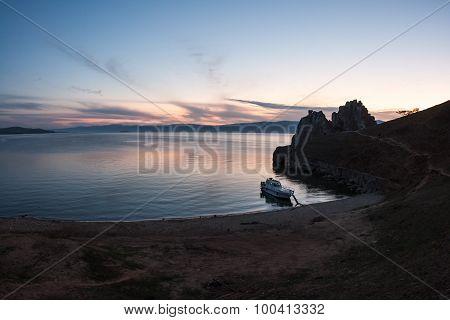 Late Sunset Landscape, Baikal, Russia