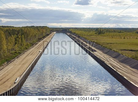 man-made navigable channel
